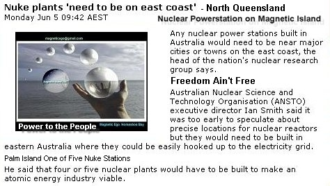Palm Island One of Five Sites for a Nuclear Powerstations 2007